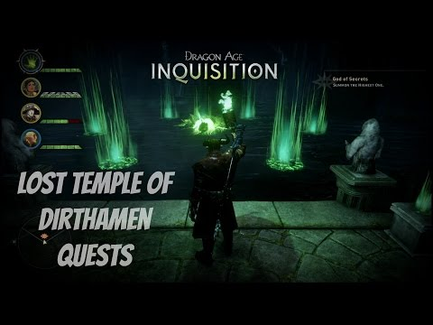 "Dragon Age: Inquisition - Sidequest ""Lost Temple of Dirthamen"" God of Secrets + Runes Guide"