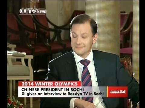Xi Jinping gives an interview to Rossiya TV in Sochi