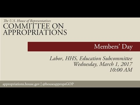 Hearing: Labor, Health and Human Services, and Education Members