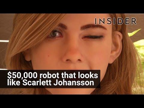 $50,000 robot that looks like Scarlett Johansson