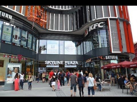 Skyline Plaza Frankfurt Einkfaufszentrum mit Food Court & Skyline Garden