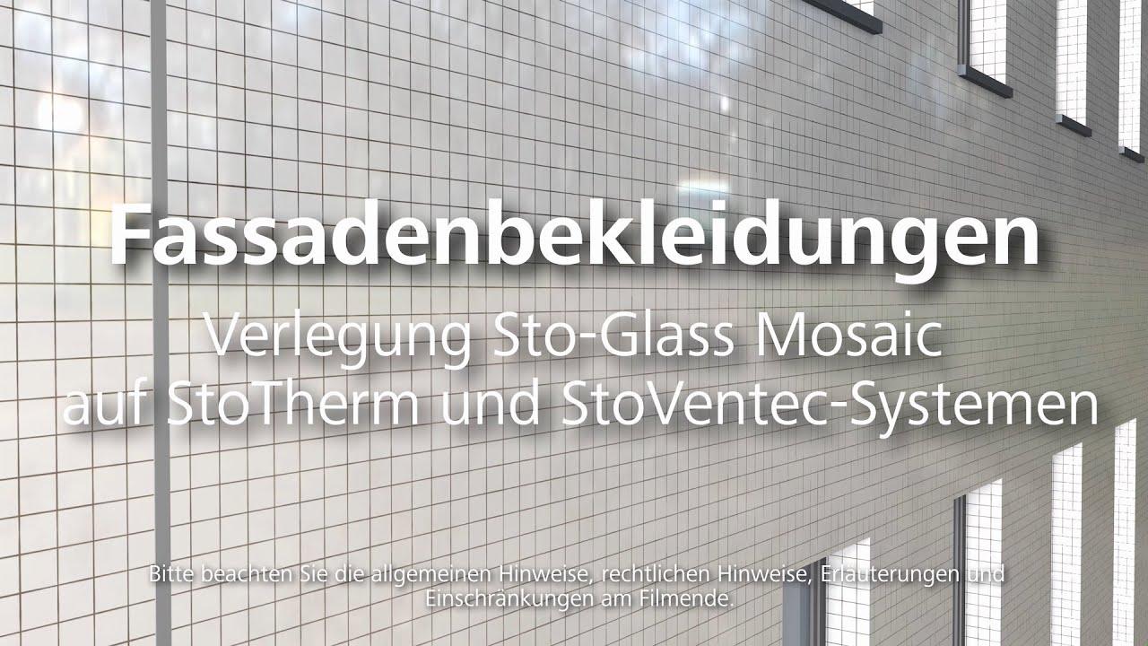 Fassadenbekleidungen - Verlegung Sto-Glass Mosaic auf StoTherm und ...