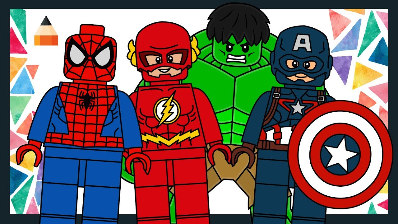 Drawing Lego Characters Lego Avengers Minifigures Lego