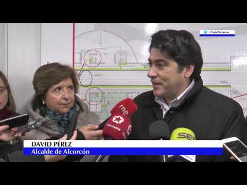 El alcalde de #Alcorcón @davidperez visita obras estación Cercanías Renfe de San José de Valderas