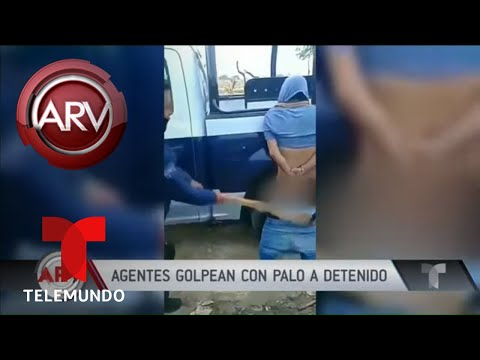 Agente Golpeó En Las Nalgas Con Un Palo A Un Detenido | Al Rojo Vivo | Telemundo