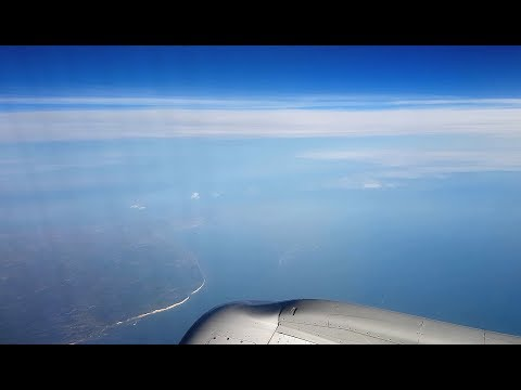 Coastline Of France And England From Airplane - White Cliff Of Dover - 4K UltraHD
