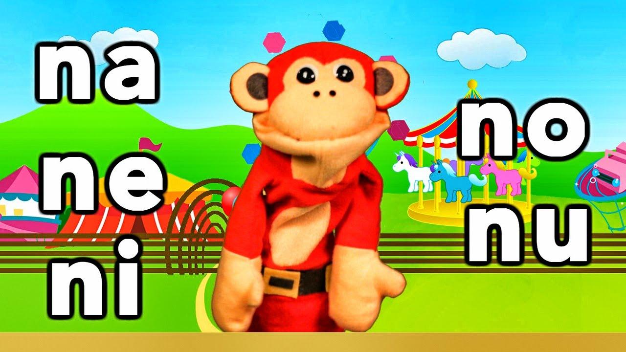 Sílabas Na Ne Ni No Nu El Mono Sílabo Videos Infantiles Educación Para Niños