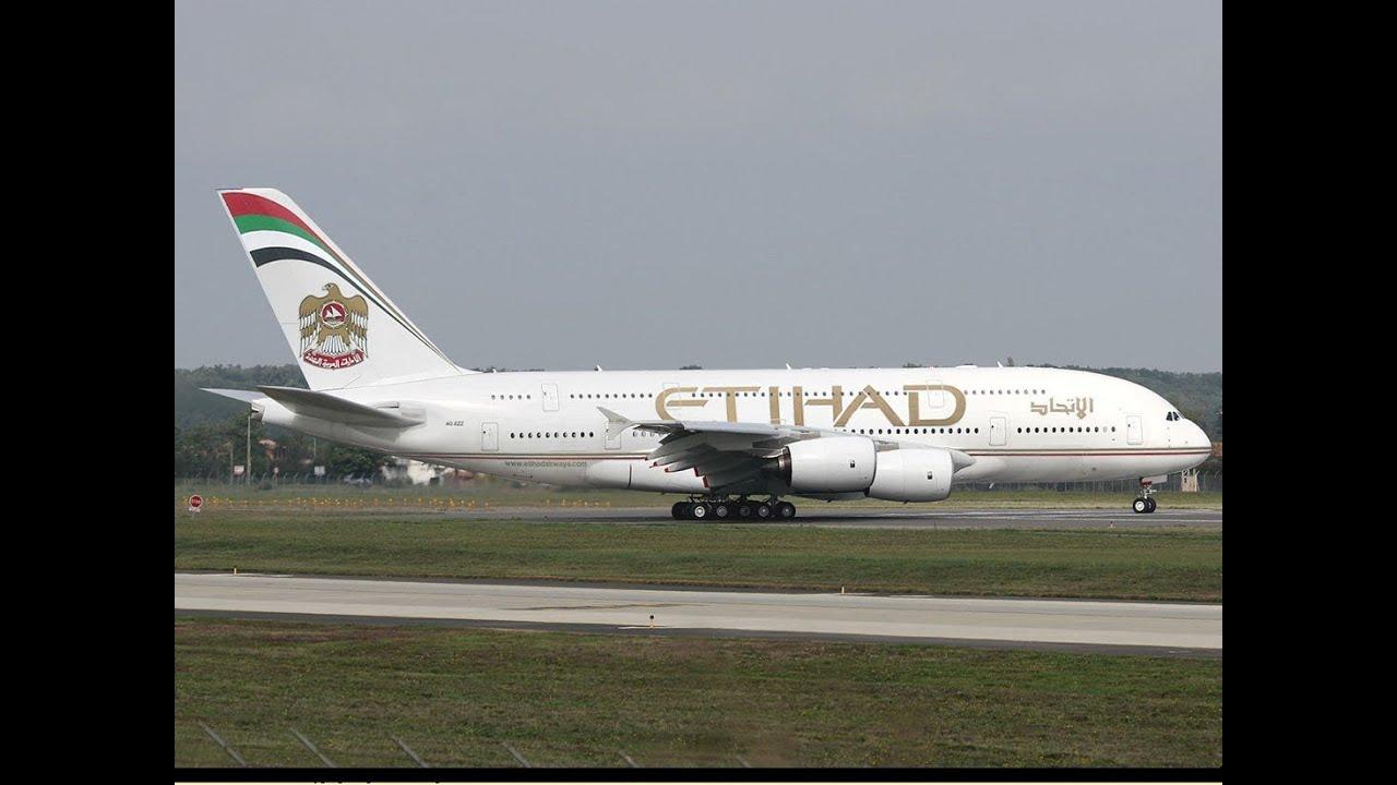 Etihad Airways A380 Landing Youtube