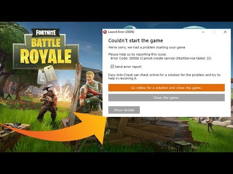 Launch Error: EasyAntiCheat Not Installed (FIX) | Fortnite | Epic Games
