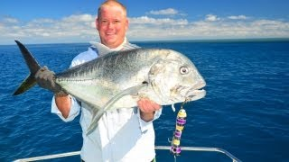 GT Popper Fishing,  Great Barrier Reef!! Thumbnail