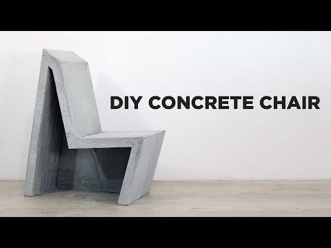 DIY Concrete Chair
