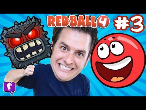 Red Ball 4: Into the Caves! Video GAME iPhone App Game HobbyKidsTV 2