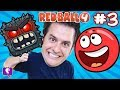 Red Ball 4: Into the Caves! GAME Play on iPhone - PART 3 with HobbyKidsTV