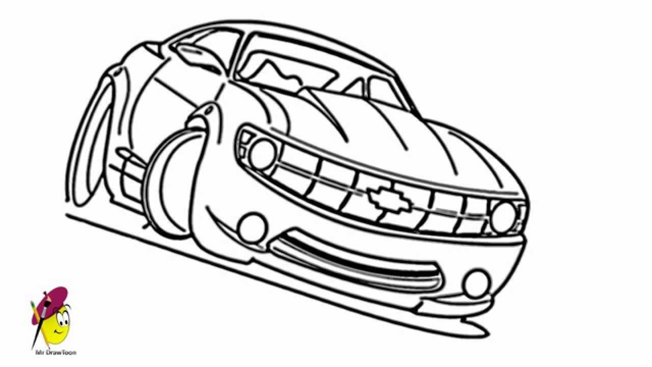 Racing Car Chevy Camaro Car Drawings How To Draw A Car Youtube