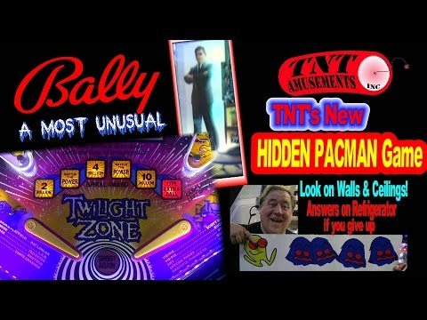 #1253 Stunning Bally TWILIGHT ZONE Pinball Machine -TNT Amusements Parties get HIDDEN PACMAN Game