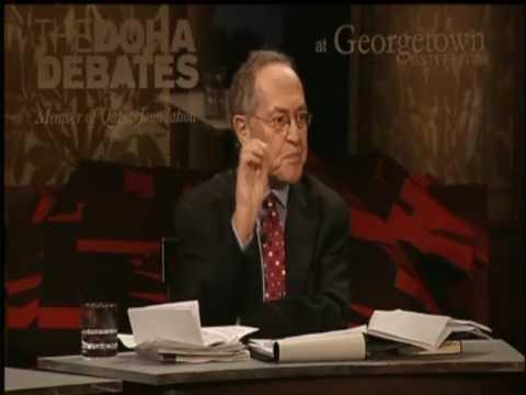 Israel's High Standard Of Human Rights - Alan Dershowitz At The Doha Debates