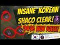 94% WIN RATE KOREAN MASTERS SHACO CLEAR! BEST CLEAR FOR (PRE)SEASON 10! - League of Legends - Eagz