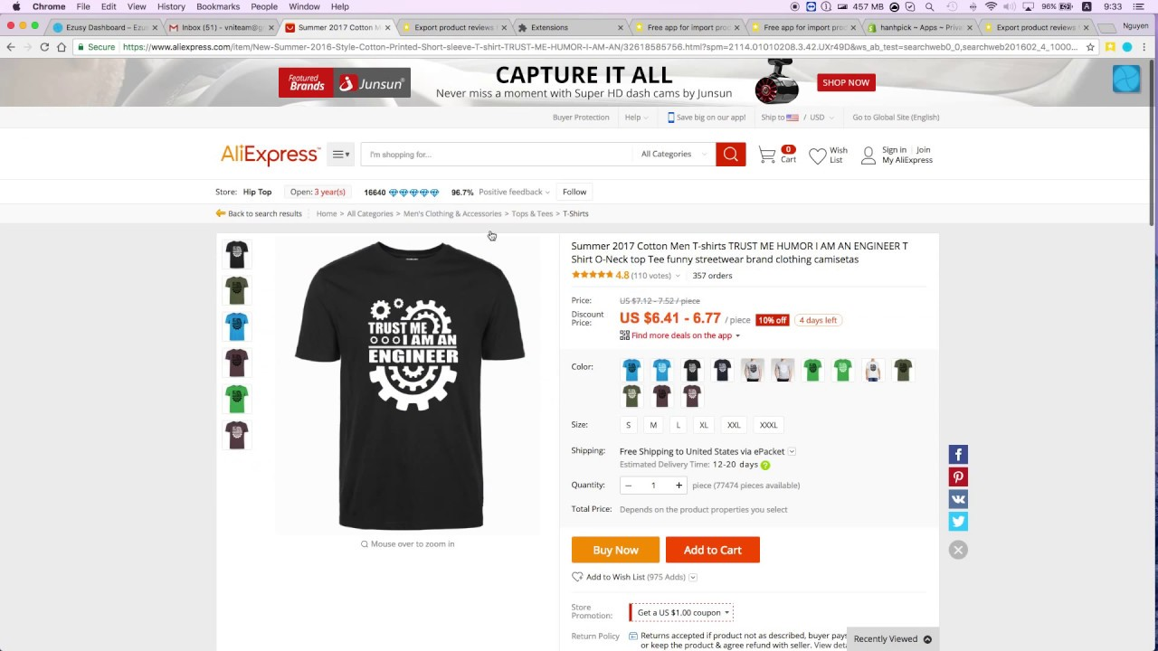 Ryviu - Select shopify product feature for export reviews from aliexpress,  amazon