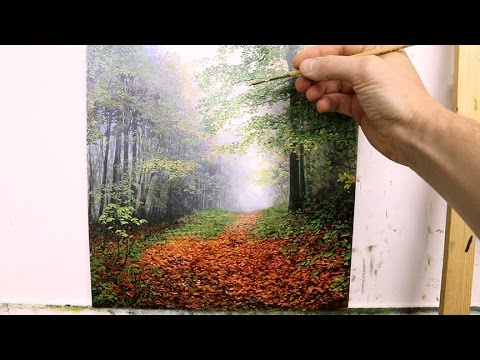 #57 How To Paint Trees in The Mist | Oil Painting Tutorial
