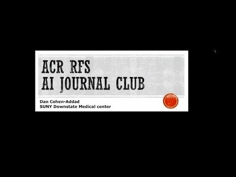 ACR Resident and Fellow Journal Club | American College of Radiology