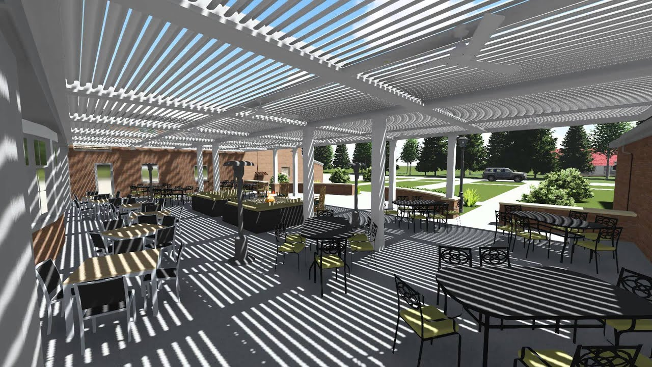 Arcadia Louvered Roof System 1899 Grill Amp Bar Youtube