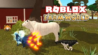 ROBLOX FARM WORLD Being one of the BIGGEST Animals! Chianina Cow! + Finding a Family for Baby Crow