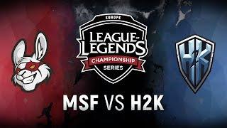 MSF vs. H2K  - Week 2 Day 1   EU LCS Spring Split    Misfits Gaming vs. H2k-Gaming (2018)
