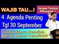 4 Agenda Penting Tanggal 30 September Wajib Tau Semua Penerima Bansos MP3