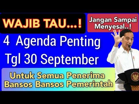 Download 4 Agenda Penting Tanggal 30 September Wajib Tau Semua Penerima Bansos