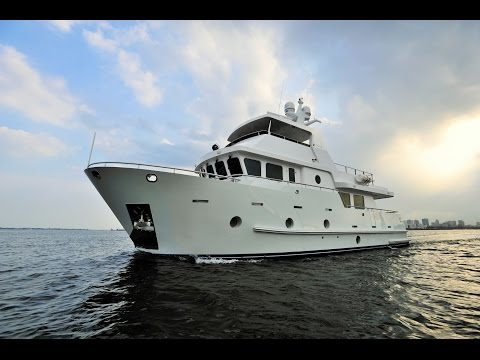 "Bering 65 ""Serge"" - Steel expedition trawler yacht underway"