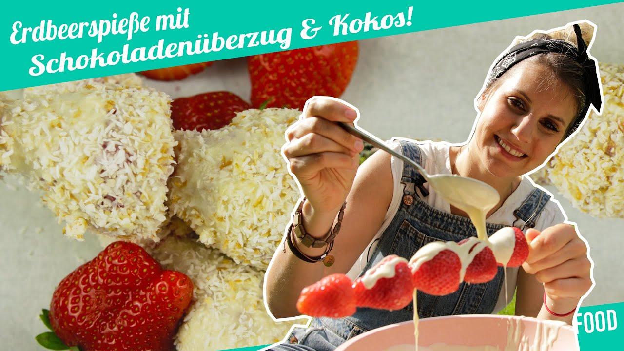 Schoko Erdbeeren Mit Weißer Schokolade Und Kokos Felicitas Then Pimp Your Food