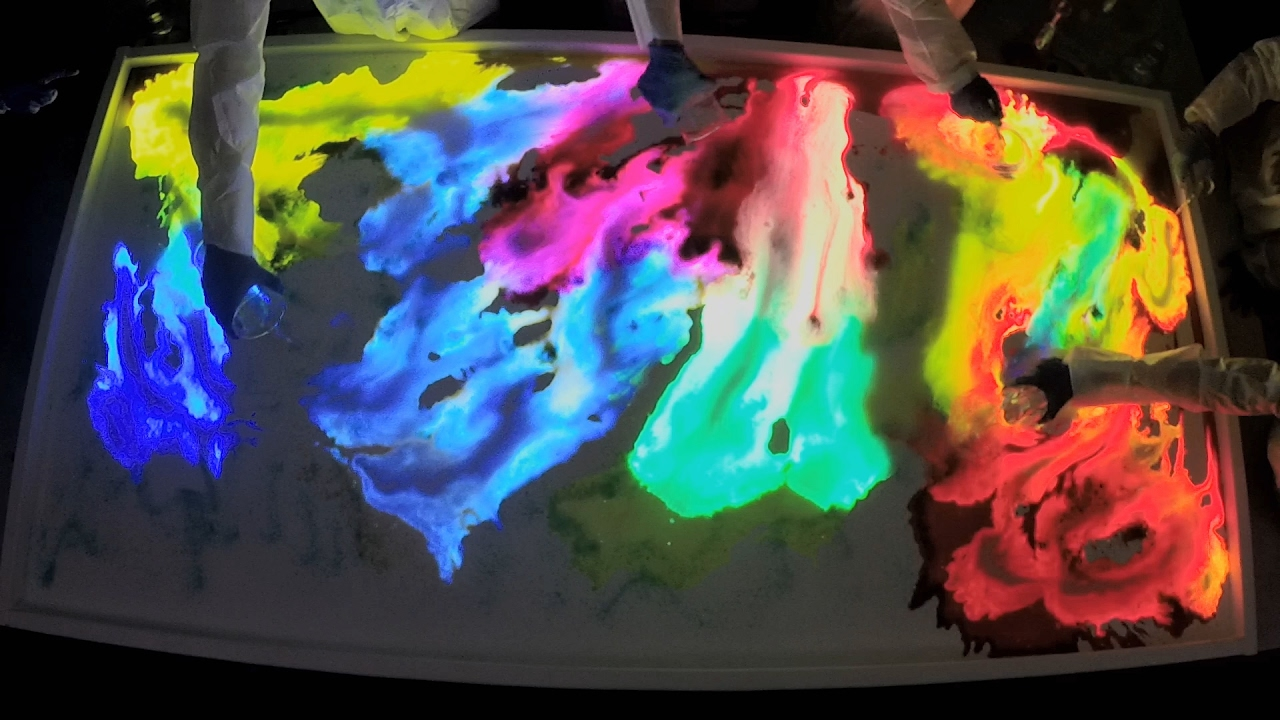 Painting With Glow Sticks Creates Bright Vibrant Art! | Street Science