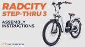 2019 Radcity 16 19 Step Thru Assembly Instructions Youtube