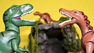 Spinosaurus T Rex Spinosaurus Vulcano Lava Playmobil Dinosaurs Toys