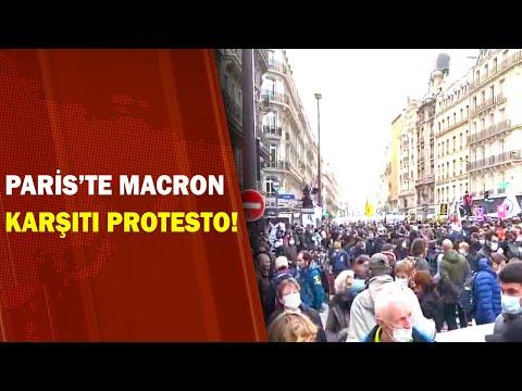 Macron'un Göçmen Politikaları Protesto Edildi / A Haber