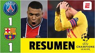PSG 1-1 Barcelona. ¡ELIMINADO! Lionel Messi anotó y falló penal. Mbappé marcó gol | Champions League