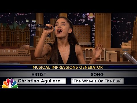 Видео, Wheel of Musical Impressions with Ariana Grande