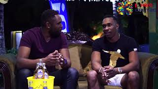 Hero CPL 2017 Fitz on the Couch with DJ Bravo