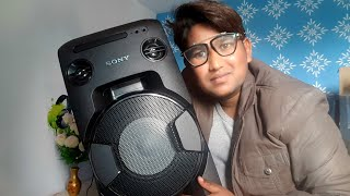 Sony MHCV11 FULL DETAIL Review IN HINDI (Information About All Sony Party Speaker with live DEMO)