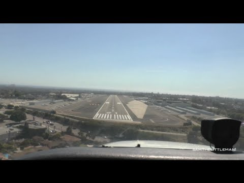 Cessna 172SP Takeoff and Landing - Santa Monica Airport [N830SP]