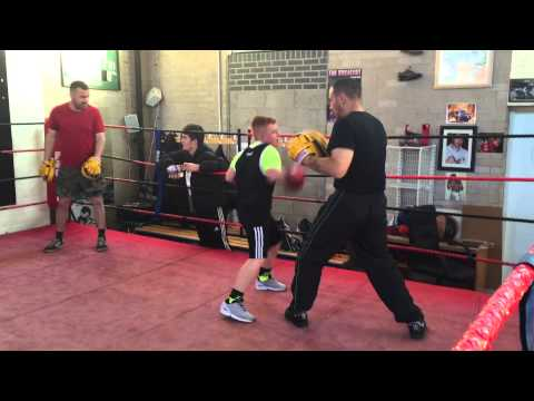 Joe on Pads at Jimmy Egans Academy Wythenshawe 27/08/2015