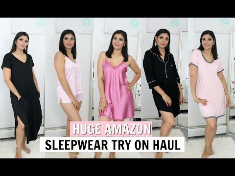 HUGE AMAZON Sleepwear Lingerie Try On Haul | FABIOLAG