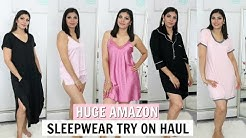HUGE AMAZON Sleepwear Lingerie Try On Haul   FABIOLAG