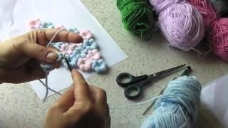 Puf Çiçek Tığ İşi Modeli Yapılışı ve Anlatımı