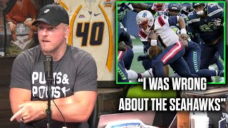 Pat McAfee Reacts To The Seahawks Beating The Patriots In An INSANE Game