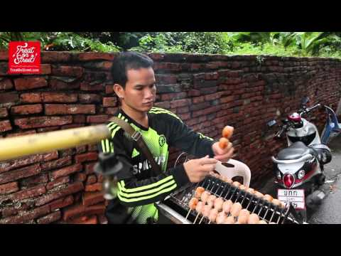 Bangkok Street Food | Thai Grilled Sausage Isaan Food - Wang Lang Street | Thai Street Food