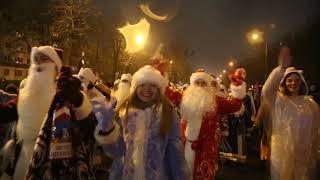 Парад Дедов Морозов в Солигорске-2019