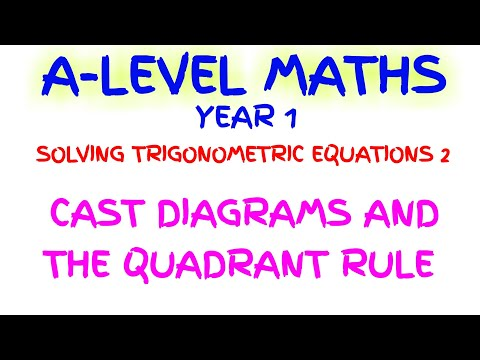 Cast Diagrams And Quadrant Rule Solving Trigonometric Equations A