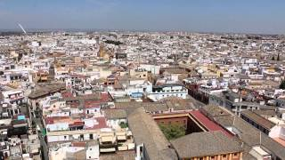 Views of Seville from Bell Tower at Cathedral