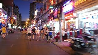 Backpacker Area - Lunar New Year TET 2015 - Saigon Vietnam 4K
